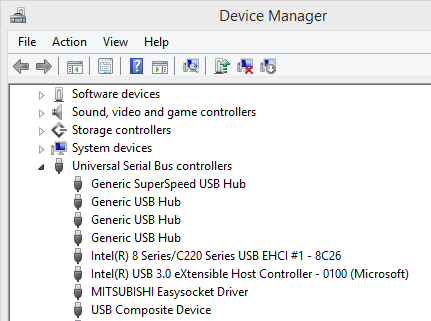 "Working installation of ""Easysocket USB Drivers"""